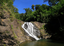 Waterfall, Banlung, Cambodia. Tropical waterfall in the jungle, Banlung, Cambodia Stock Photos