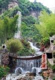 Waterfall at Baofeng lake Stock Image