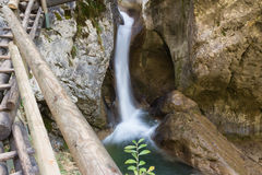 Waterfall. Barenschutzklamm , the most impressive and the best developed gorge in Styria, Austria Royalty Free Stock Photography