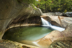 Waterfall at The Basin granite pothole, White Mountains, New Ham Stock Photography