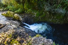 Waterfall of Bassin La Mer, Reunion Island. Waterfall of Bassin La Mer at Reunion Island during a sunny day Royalty Free Stock Photo