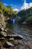 Waterfall of Bassin La Mer, Reunion Island. Waterfall of Bassin La Mer at Reunion Island during a sunny day Stock Photos