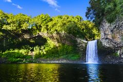 Waterfall of Bassin La Paix, Reunion Island Royalty Free Stock Images