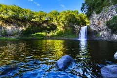 Waterfall of Bassin La Paix, Reunion Island Royalty Free Stock Photo