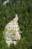 Waterfall in Bavarian Alps. Over the Koenigsee Royalty Free Stock Photos