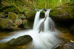 Waterfall in the Bavarian Forest II Royalty Free Stock Photo