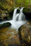 Waterfall in the Bavarian Forest Royalty Free Stock Photography