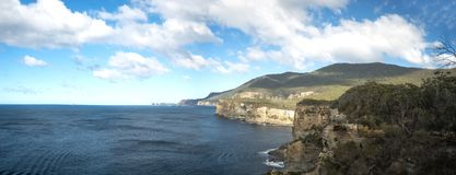Waterfall Bay Tasmania Panorama Royalty Free Stock Images