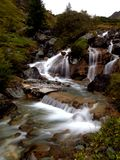 Waterfall. The beauitiful Waterfall long exposition stock photo