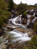 Waterfall. The beauitiful Waterfall Long exposition stock photos