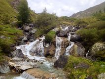 Waterfall. The beauitiful Waterfall in the mountains Stock Image