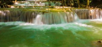 Waterfall beautiful in asia southeast asia Thailand. Beautiful waterfall, Huay Mae Ka Min waterfall at National Park Kanjanaburi, Thailand Royalty Free Stock Images