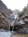 Waterfall. Beautiful day traveling in Arizona royalty free stock photos