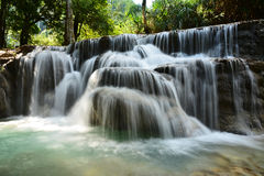 Waterfall. Beautiful Waterfall in the forest Royalty Free Stock Image