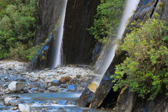 Waterfall. Beautiful waterfall in the forest in Westland Tai Poutini National Park, South Island, New Zealand Royalty Free Stock Photography