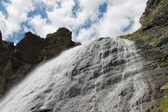 Waterfall. Beautiful waterfall. waterfall `Girlish braids Stock Photography