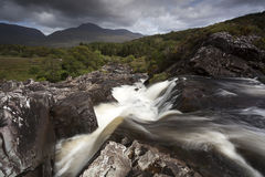 Waterfall. Beautiful waterfall in Kerry Mountains, Co. Kerry, Ireland royalty free stock image