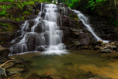 Waterfall. Beautiful landscape at mentawai indonesia royalty free stock photography