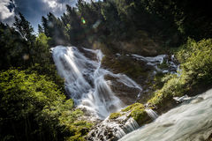 Waterfall. Beautiful mountain waterfall-Kals am Grossglokner,Austria Royalty Free Stock Photography