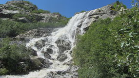 Waterfall. Beautiful waterfall in the mountains of dombay Royalty Free Stock Photo