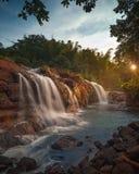Waterfall. Beautiful, nature, waterfall, Makassar city, malino, gowa Royalty Free Stock Photography
