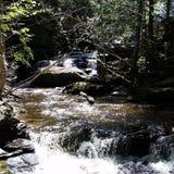 Waterfall. Beautiful waterfall off the beaten path stock image