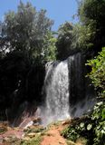 Waterfall. Beautiful waterfall at a place known as El Nicho, at Cuba Royalty Free Stock Images
