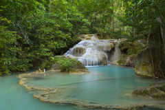 Waterfall beautiful scenery in the tropical forest. Stock Photos