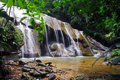 Waterfall. A beautiful secluded tropical waterfall Stock Photography