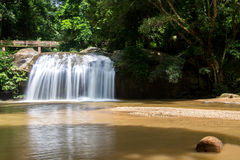 Waterfall beautiful tropical landscape in national park Stock Photos