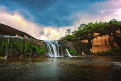 Waterfall,Beautiful waterfalls in the middle of the forest royalty free stock images