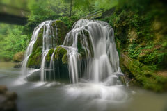 Waterfall. A beautifull waterfall, somewhere in Romania Royalty Free Stock Images