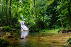 Waterfall. A beautifull waterfall, somewhere in Romania Royalty Free Stock Image