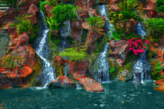 Waterfall beauty landscape Stock Images