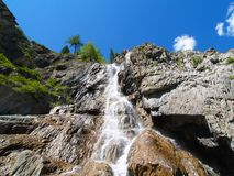 Waterfall from below Royalty Free Stock Photography
