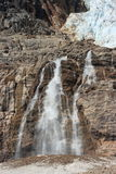 Waterfall below Angel Glacier Stock Photo