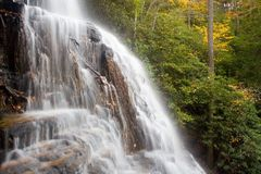 Waterfall benton 12. Waterfall at chilhowee national park tennessee mountains Stock Photos