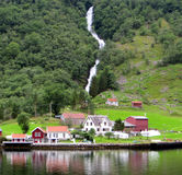 Waterfall, Bergen, Norway Royalty Free Stock Photo