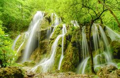 Waterfall Beusnita. In Aninei Mountains, Romania Royalty Free Stock Photography