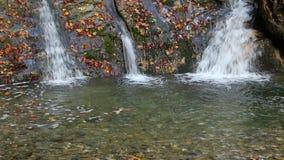 Waterfall of Bezumenka River, Sochi, Russia stock footage