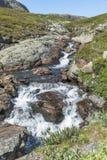 Waterfall on the bitihorn track Stock Photo