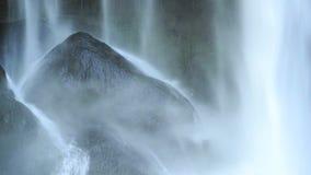 Waterfall On Black Rocks stock footage