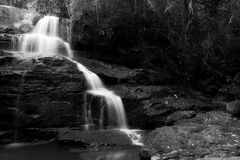 Waterfall in black and white Stock Photography