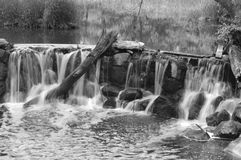 Waterfall Black and White Stock Images