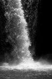 Waterfall in black and white Stock Photo