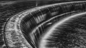 Waterfall, Black White, Water Royalty Free Stock Photo