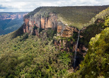 Waterfall in Blue Mountains Australia Royalty Free Stock Photos