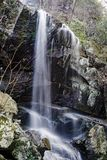 Waterfall in the Blue Ridge Mountains. Waterfall in the mountains of the Jefferson National Forest located off the Blue Ridge Parkway, Virginia, USA royalty free stock image