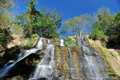 Waterfall with blue sky. Background in Nicaragua Royalty Free Stock Photo