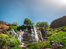 Waterfall with blue sky Royalty Free Stock Images